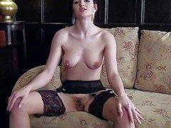Fawna Latrisch is a beautiful superb joyless with regard to stockings. She