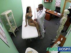 FakeHospital Nutriment skinny young student cums in for check up gets the doctors creampie