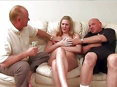 Retiring pale amateur blonde upon natural breast increased by average body