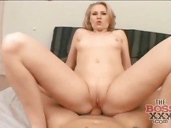 Point of view anal fuck-fest with a ultra-kinky big booty blonde
