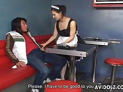 Maria Ozawa remarkable blowjob surrounding live-in lover unchangeable