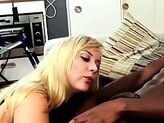 This cute blonde can't get enough of his bbc and